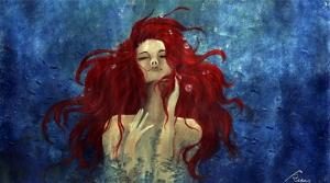 Deniz Kızı Yağlı Boya Sanat Kanvas Tablo