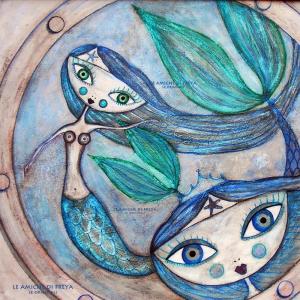 Deniz Kızları-1, Modern Sanat Kanvas Tablo