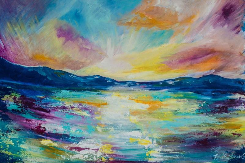Deniz Manzarası Dalgalı Deniz Yağlı Boya Sanat Kanvas Tablo