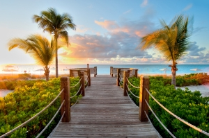 Deniz ve İskele Doğa Manzaraları Kanvas Tablo