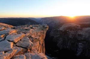 Derin Vadi Gün Batımı HD Doğa Manzaraları Kanvas Tablo