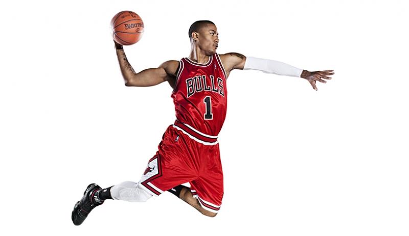 Derrick Rose Chicago Bulls Basketbol Kanvas Tablo