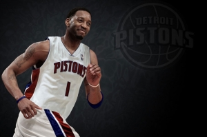Detroit Pistons Nba Tracy Mcgrady Basketbol Player Kanvas Tablo