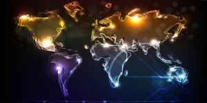 Dijital Çizim Dünya Haritası
