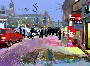 Dijital Eser Sanat Kanvas Tablo