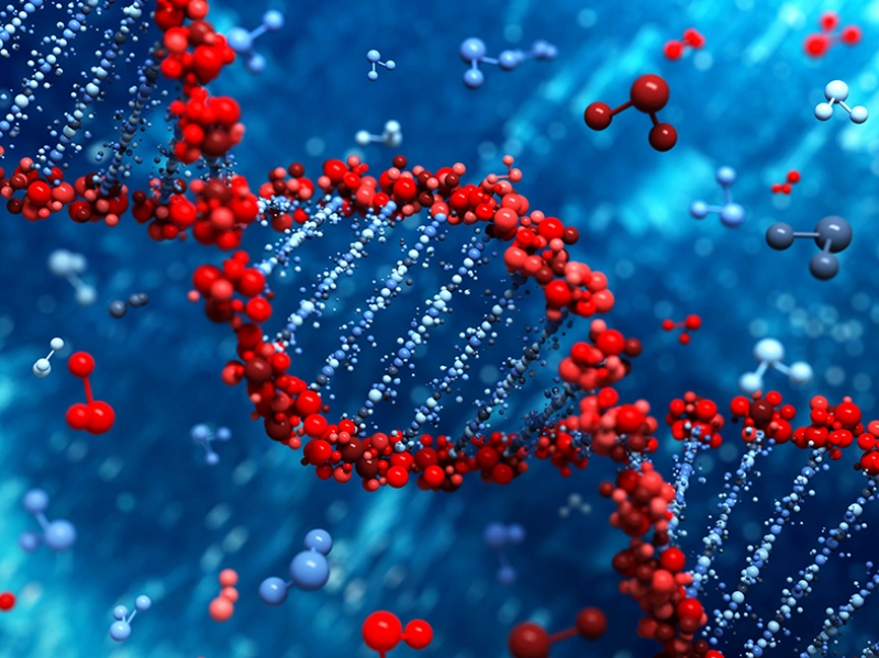 DNA Abstract Dijital ve Fantastik Kanvas Tablo