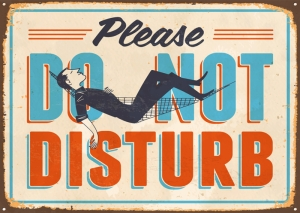 Do Not Disturb Tabela Retro & Motto Kanvas Tablo