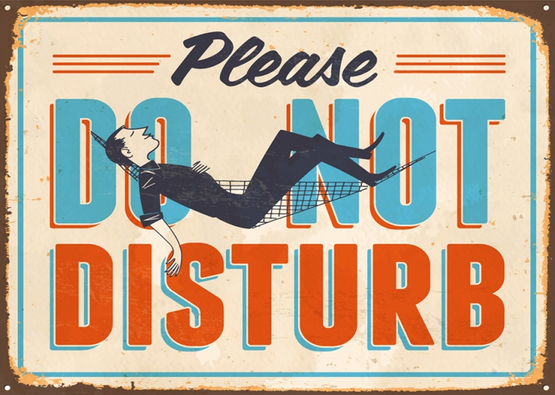 Do Not Disturb Tabela Retro & Motto Kanvas Tablo