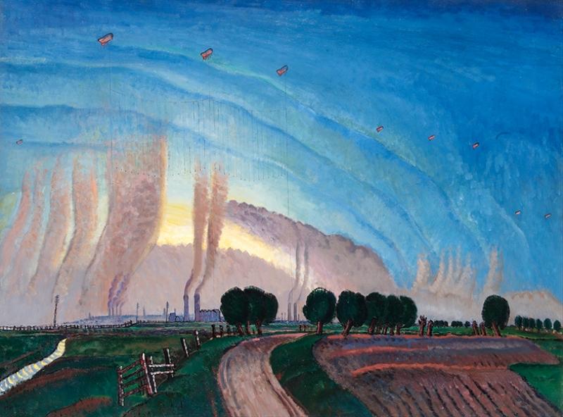 Dobson Frank Dağ Manzarası Yağlı Boya Sanat Kanvas Tablo
