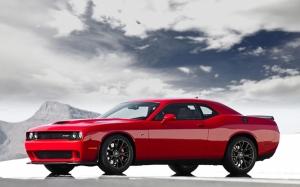Dodge Chareger Kırmızı Spor Otomobil Kanvas Tablo
