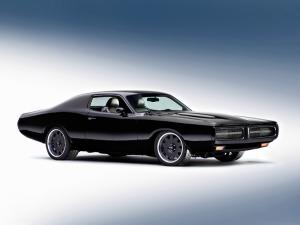 Dodge Chareger Siyah Klasik Araba Kanvas Tablo