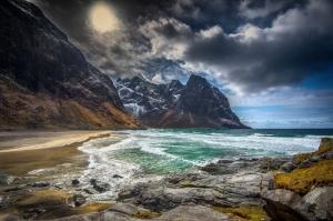 Doğa Deniz Göl Dağ Sahil Manzaraları-14 Kanvas Tablo
