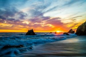 Doğa Deniz Göl Dağ Sahil Manzaraları-18 Kanvas Tablo