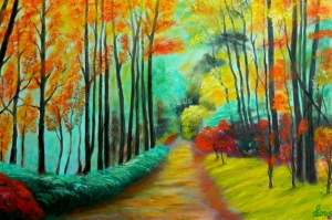Doğa Göl Orman Manzaraları 5 Yağlı Boya Sanat Kanvas Tablo