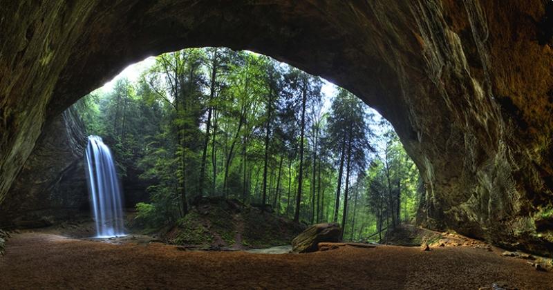 Doğa Harikası Şelale Manzarası Kanvas Tablo