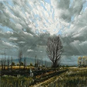 Doğa Manzarası, Bulutlu Hava Kanvas Tablo