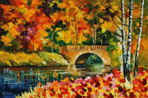 Doğa Nehir Orman Manzara 1 Yağlı Boya Sanat Kanvas Tablo