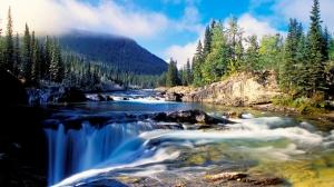 Doğa Şelale ve Irmak Manzarası Kanvas Tablo