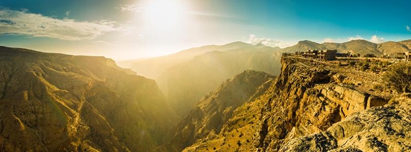 Doğa ve Dağ Panaroma Panaromik Manzara Kanvas Tablo