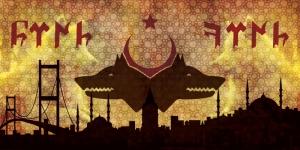 Doğu ve Batı Fatihi Göktürkler Kızıl Elma Kanvas Tablo