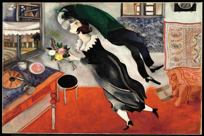 Doğum Günü Marc Chagall Birthday Klasik Sanat Kanvas Tablo