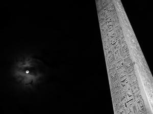 Dolunay ve Tarihi Anıt Fotoğraf Kanvas Tablo