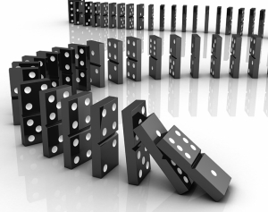 Domino Taşları Abstract Dijital ve Fantastik Kanvas Tablo