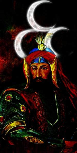 Dördüncü Murat Han, Tuğrası, Osmanlı Coğrafyası-7 Osmanlı Kanvas Tablo