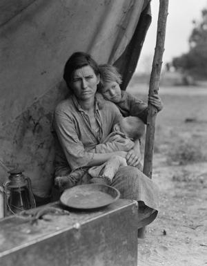 Dorothea Langes Caresiz Anne Fotoğraf Kanvas Tablo