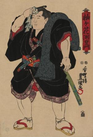 Dövüşçü Japon Sanatı Yağlı Boya Sanat Kanvas Tablo