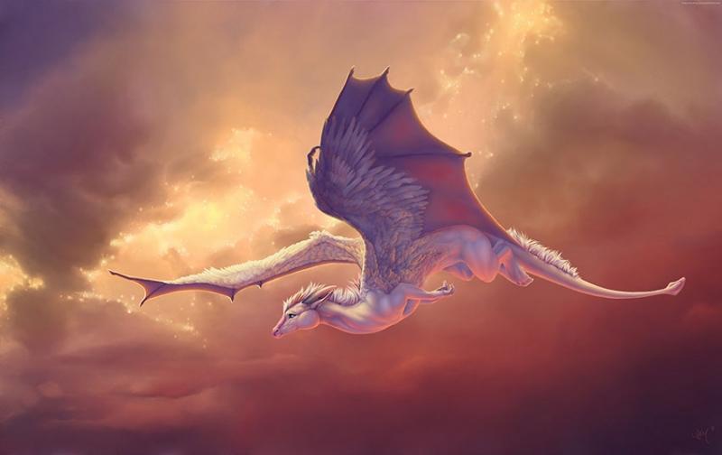 Dragonun Kanatları Pegasus Hayvanlar Kanvas Tablo