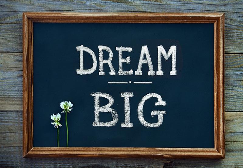 Dream Big Büyük Hayal Aşk & Sevgi Kanvas Tablo