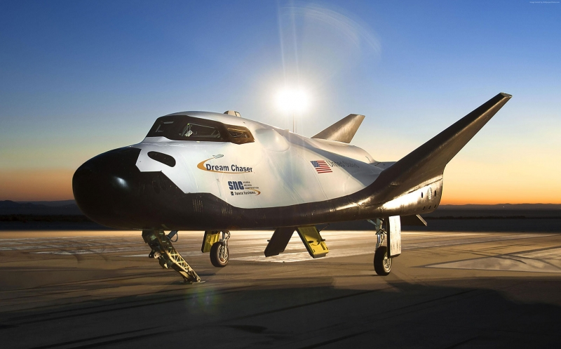 Dream Chaser Uzay Mekiği Dünya & Uzay Kanvas Tablo