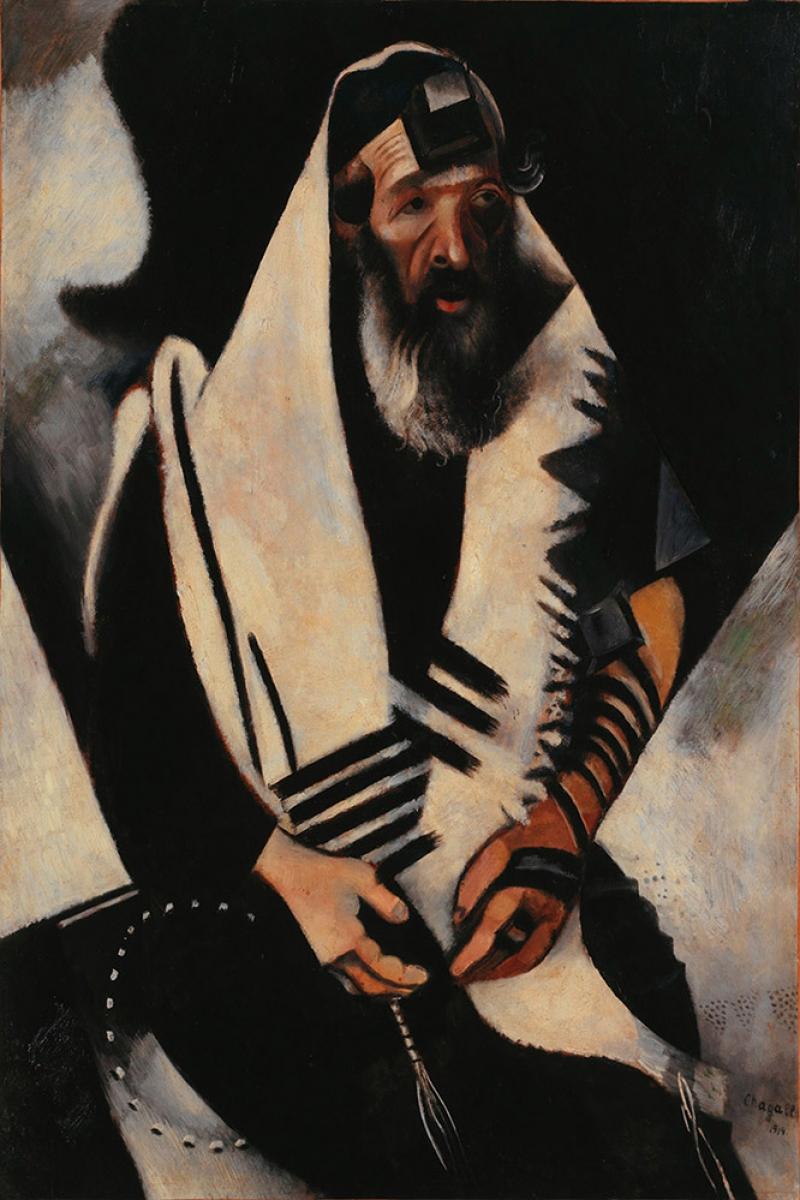Dua Eden Musevi Marc Chagall The Praying Jew Klasik Sanat Kanvas Tablo