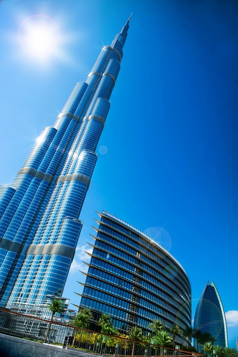 Dubai Burj Khalifa Dünyaca Ünlü Şehirler Kanvas Tablo