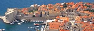 Dubrovnik Kuş Bakışı  Liman Deniz Doğa Şehir Manzaraları Kanvas Tablo