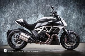 Ducati Diavel Motorsiklet Araclar Kanvas Tablo