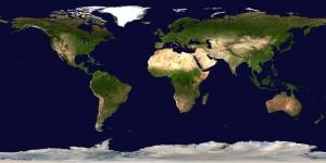 Dünya Haritası 2 Dünya & Uzay Kanvas Tablo