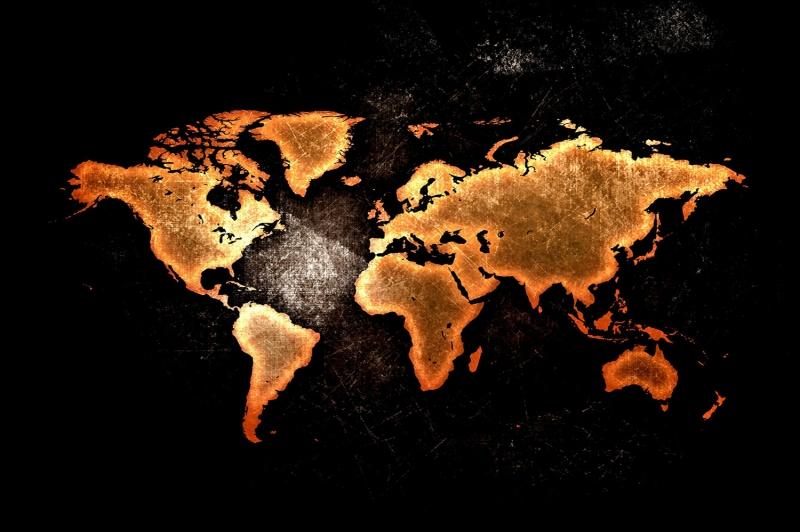 Dunya Haritasi HD Goruntu 1 Eski Cizim Dunya Haritasi Cografya Canvas Tablo