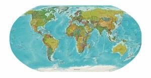 Dünya Haritası Kanvas Tablo
