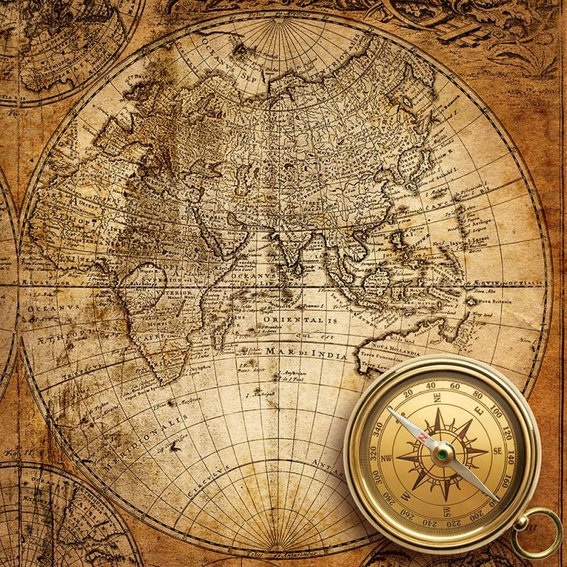 Dunya Haritasitasi ve Pusula 10 Goruntu Eski Cizim Dunya Haritasi Cografya Kanvas Tablo