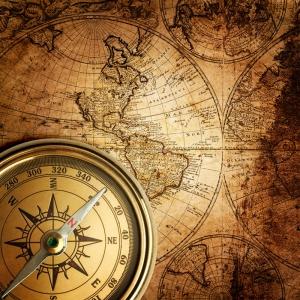 Dunya Haritasitasi ve Pusula 11 HD Goruntu Eski Cizim Dunya Haritasi Cografya Canvas Tablo