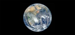 Dünya Uzaktan Görüntüsü Kanvas Tablo