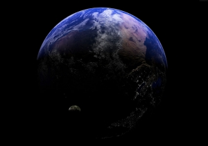Dünya Uzaydan Görünüm 4 Dünya & Uzay Kanvas Tablo