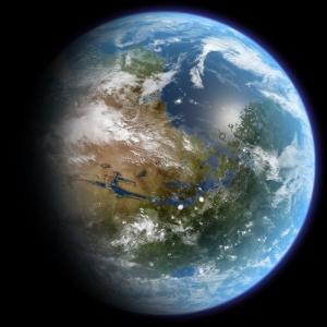 Dünya Uzaydan Görünüm Dünya & Uzay Kanvas Tablo