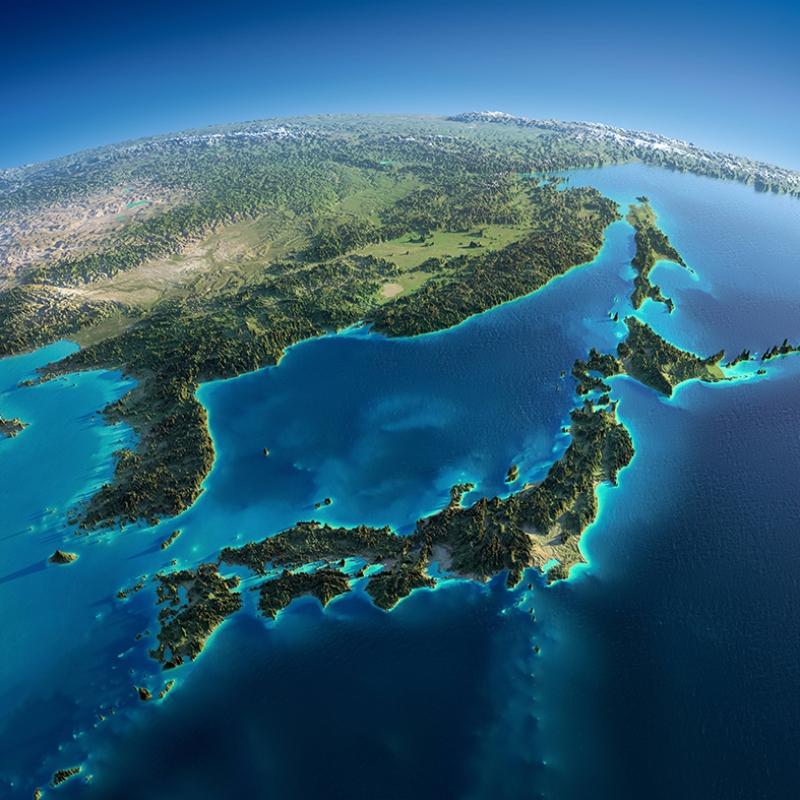 Dünya Uzaydan Kuşbakışı Görüntüsü Kanvas Tablo