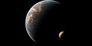 Dünya ve Ay Dünya & Uzay Kanvas Tablo