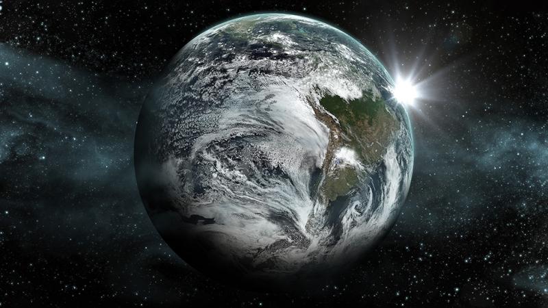 Dünya ve Yıldızlar Dünya & Uzay Kanvas Tablo