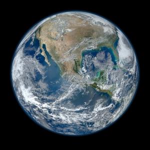 Dünya Yer Küresi Kanvas Tablo