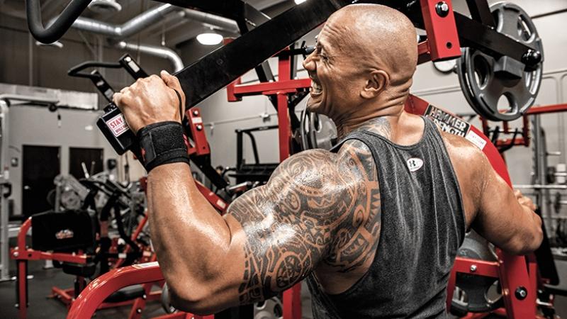 Dwayne Johnson Body Gym Spor Kanvas Tablo